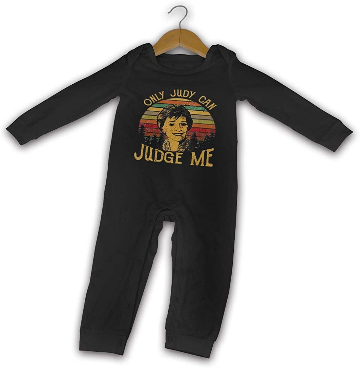 NOT Retro Funny Only Judy Can Judge Me Kids Baby Unisex Long Sleeve Hooded Romper Jumpsuit Baby Crawler Clothes