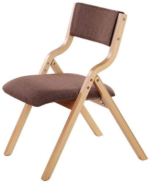 HELLEN Home Leisure Portable Chair Nordic Office Folding Chair Simple Backrest Solid Wood, Ergonomic Design Z-2020-7-20