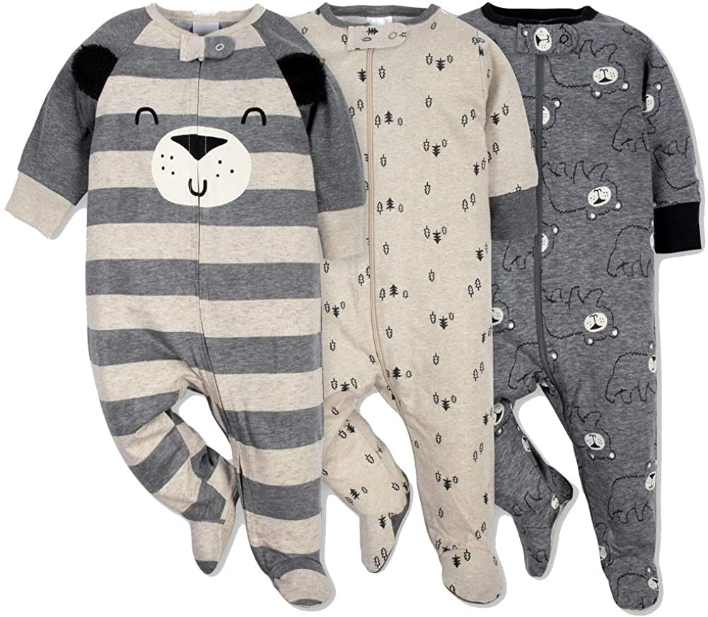 Gerber Onesies Baby Boy Sleep N' Play Sleepers 3 Pack