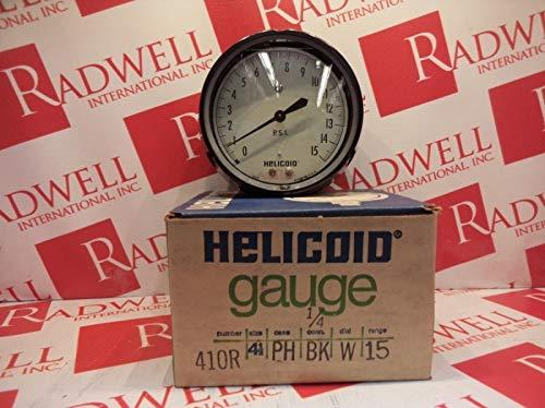 HELICOID 410R-4-1/2-PH-BK-W-15 Pressure Gauge 4-1/2IN 0-15PSI
