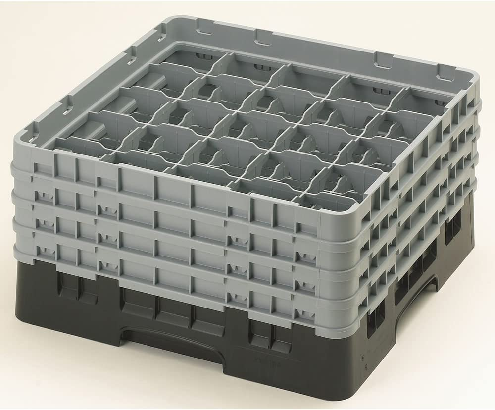 Camrack Glass Rack, W/4 Extenders, Full Size, 25 Compartments, 3-1/2'' Max. Dia., 8-1/2'' Max. (2 Pieces/Unit)