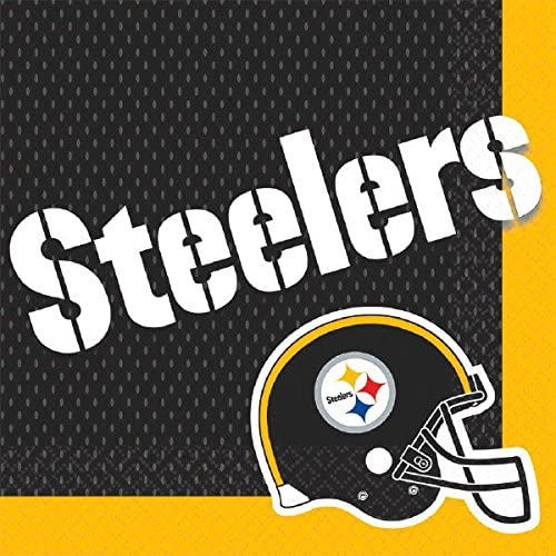 Amscan 512348 Pittsburgh Steelers Collection Luncheon Napkins, 16 pcs