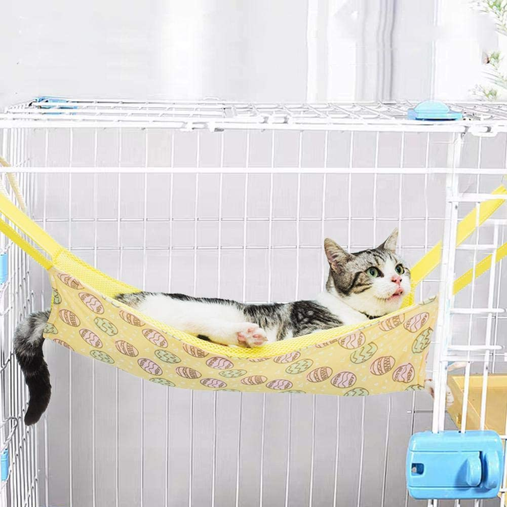 neversaynever Cat Hammock Bed Summer Breathable Mesh Pet Hammock Bed, Comfortable Hanging Pet Hammock Bed for Cats/Small Dogs/Rabbits/Other Small Animals, 21 X15 in