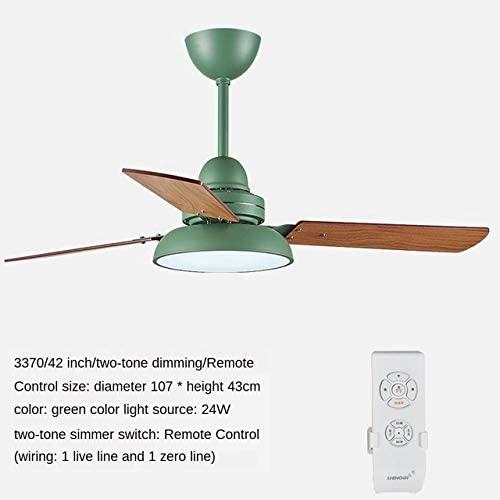 ZJUAN 42 Inch 3-Blade Wooden Fan Light,3-Speed Mute Led Ceiling Fan,Acrylic Ceiling Fan Light Gray Remote Control