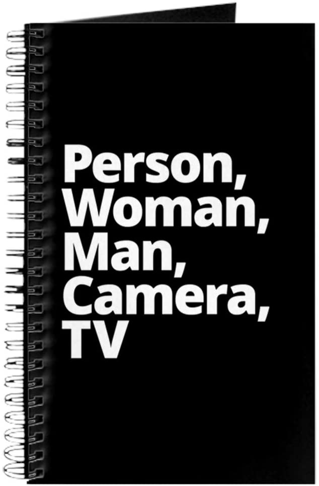 CafePress Person Woman Man Camera TV Spiral Bound Journal Notebook, Personal Diary, Dot Grid