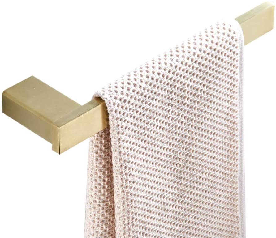 BigBig Home Golden Towel Ring, Stainless Steel Towel Holder Semi-Closed Wall Mounted Bathroom Accessory Hang Towels