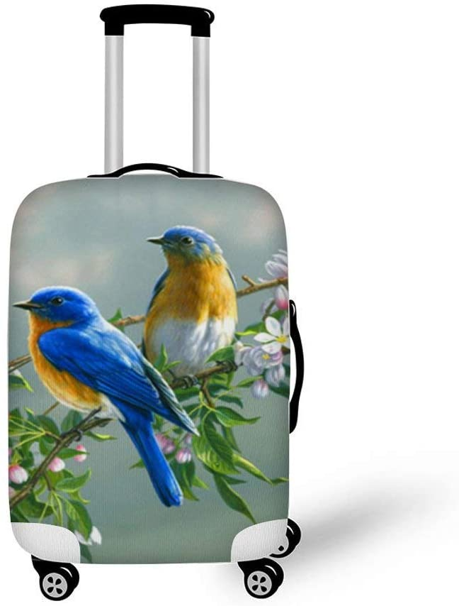 Lovely Bird Fashionable Baggage Suitcase Protector Travel Luggage Cover Anti-Scratch