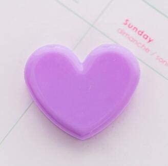 Clips Girl's Heart Small Clip Decoration Photo Love Clip Student Test Paper Bill Folder Clips Stationery Paperclips Calendar Binder - (Color: Purple)