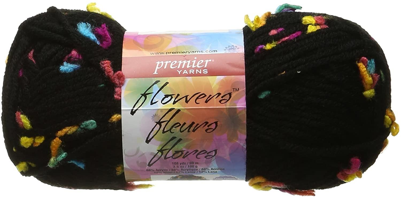 Premier Yarns Flowers Yarn, Neon Bloom