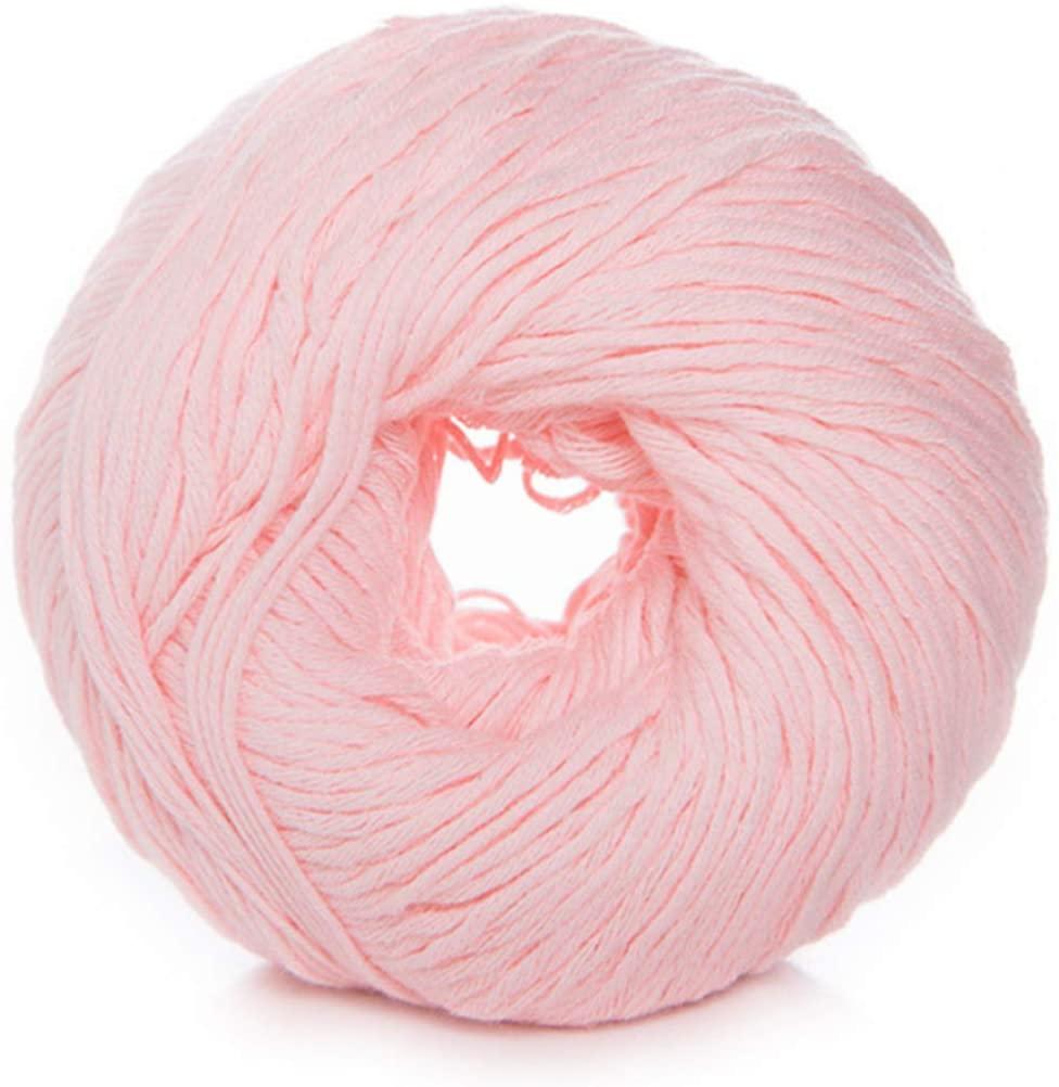 minansostey 50g/Ball 8 Strands Milk Cotton Yarn Light Candy Color DIY Hand Knitting Woven Crochet Thread for Sweater Shawl Vest