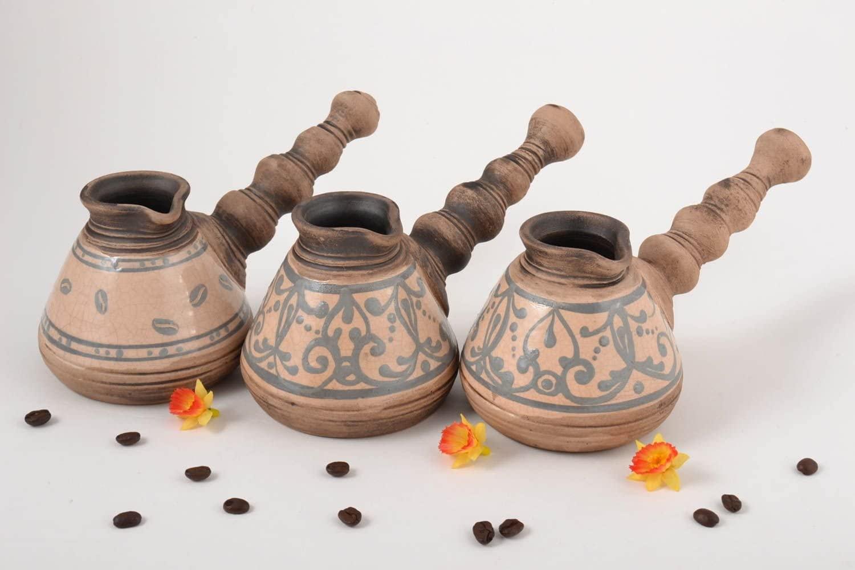 Ceramic Jezve Utensils For Coffee Handmade Jezve Clay Jezve Unusual Jezve