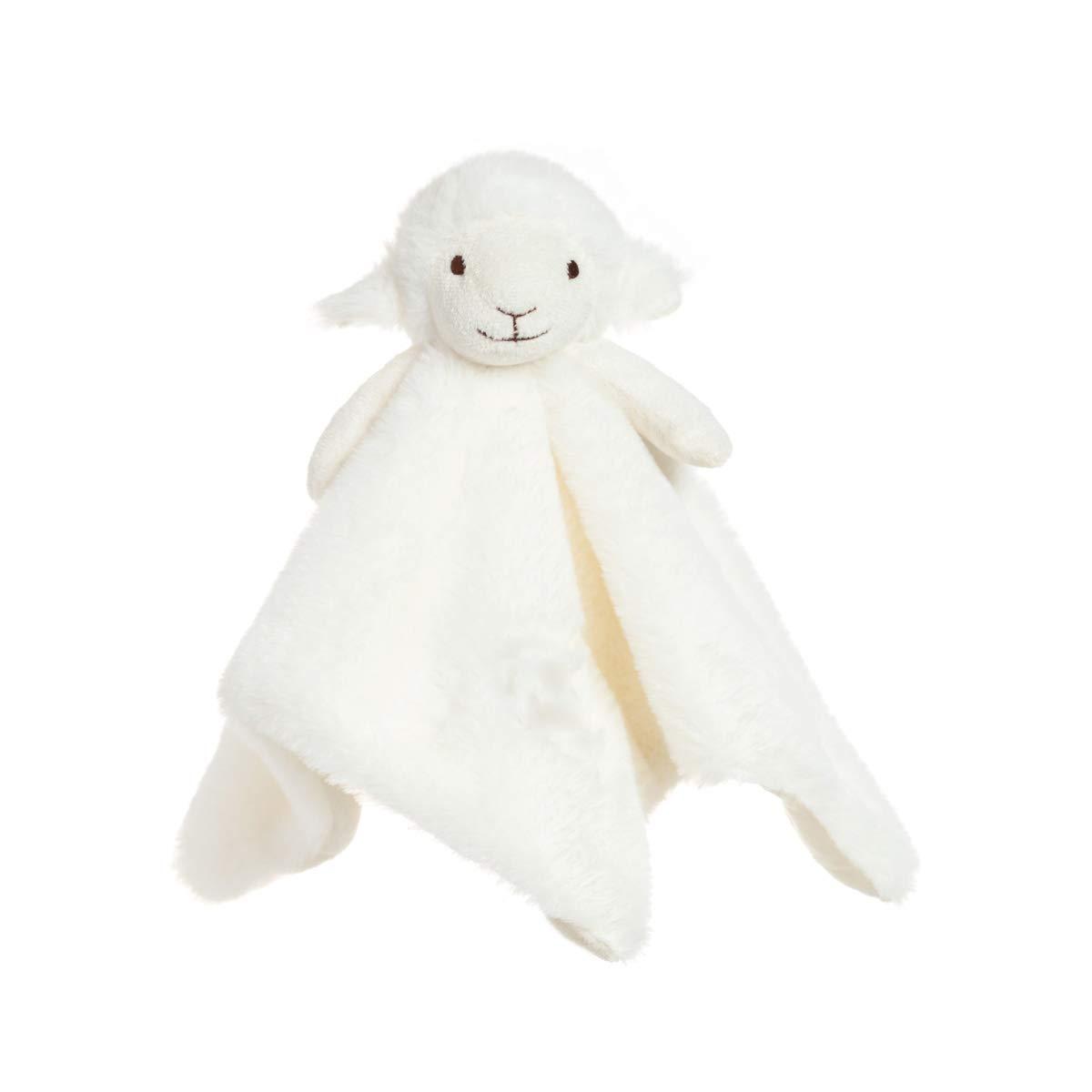 Apricot Lamb Luxury Snuggle Plush White Lamb Sheep Infant Stuffed Animals Security Blanket Nursery Character Blanket(White Lamb, 14 Inches)