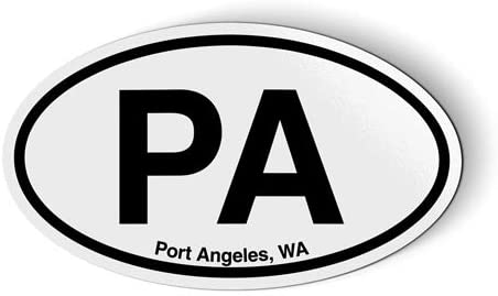 PA Port Angeles Washington Oval - Flexible Magnet - Car Fridge Locker - 3.5