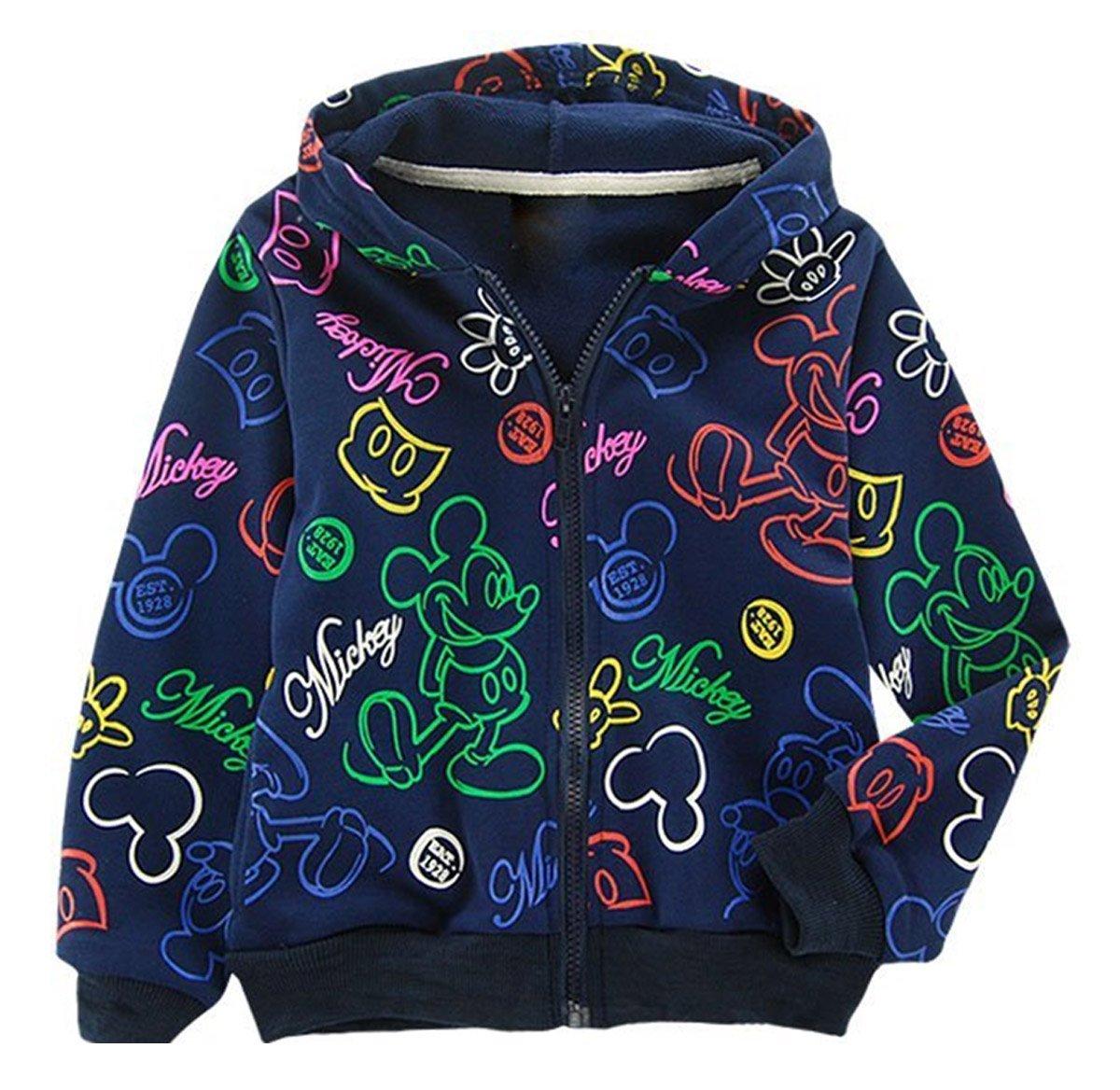 SOPO Mickey Cartoon Coat Boys Kid Hoodie Winter Jacket Outerwear 2-7Y