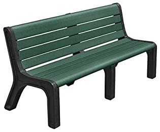 Kirby Built Products 6' Modern Recycled Plastic Park Bench - Portable - Green