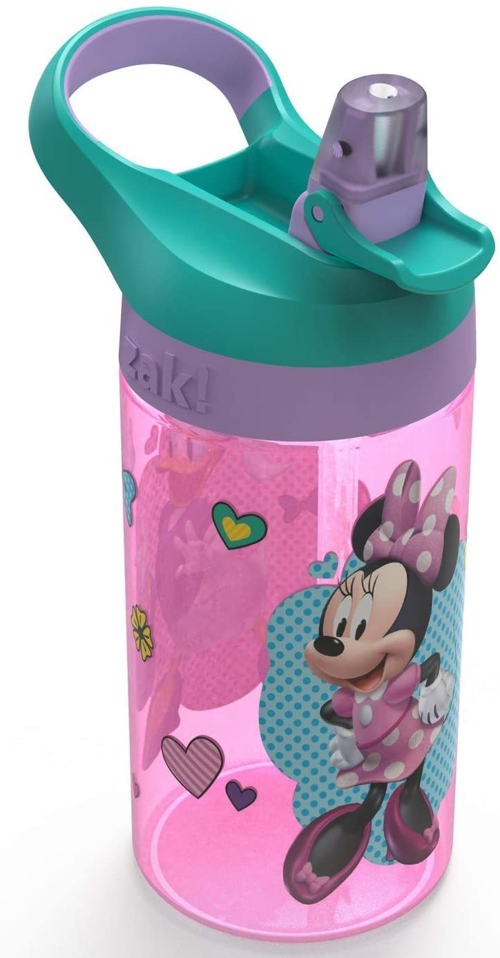 Zak Minnie Mouse Designs 16oz Plastic Water Bottle Pink/Teal