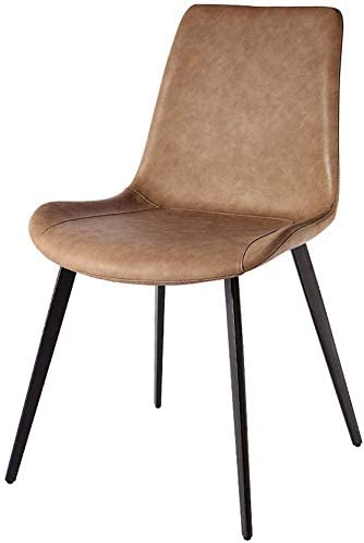 HOMRanger Faux Leather Chairs Concise Dining Chairs Restaurant Backrest Chairs Waterproof Household Kitchen Living Room Chairs Non-Slip 4 Metal Legs Max.150KG