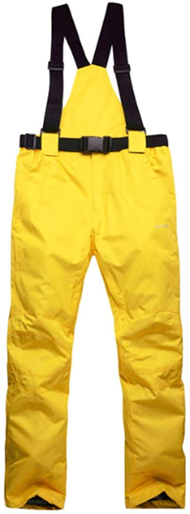 Mitef Adult's Ski Pants Warm Padded Windproof Waterproof Snowboard Pants, Yellow, XL