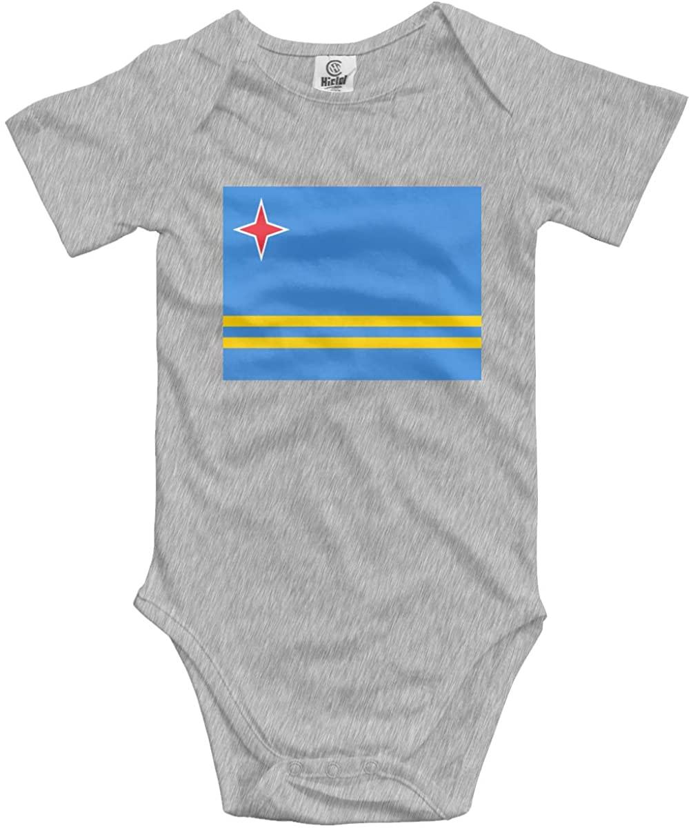 CUTEDWARF Baby Short-Sleeve Onesies Aruba Flag Bodysuit Baby Outfits