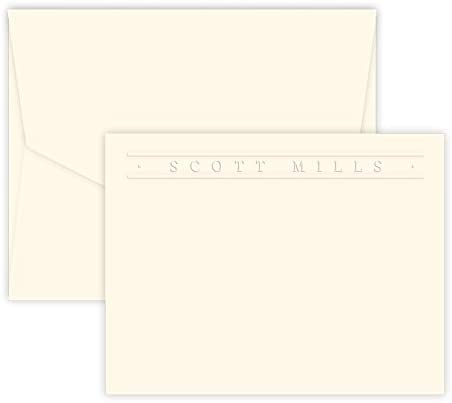 Premium Personalized Embossed Stationery Flat Cards