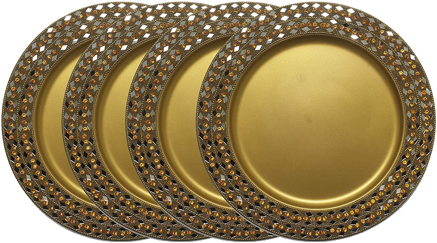 GiftBay Creations Wedding Charger Plates Metal, 13