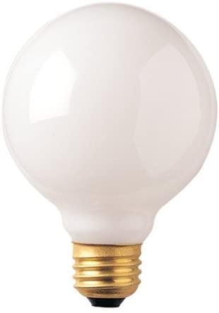 Bulbrite 40G30WH 40-Watt Incandescent G30 Globe, Medium Base, White [4 Pack]