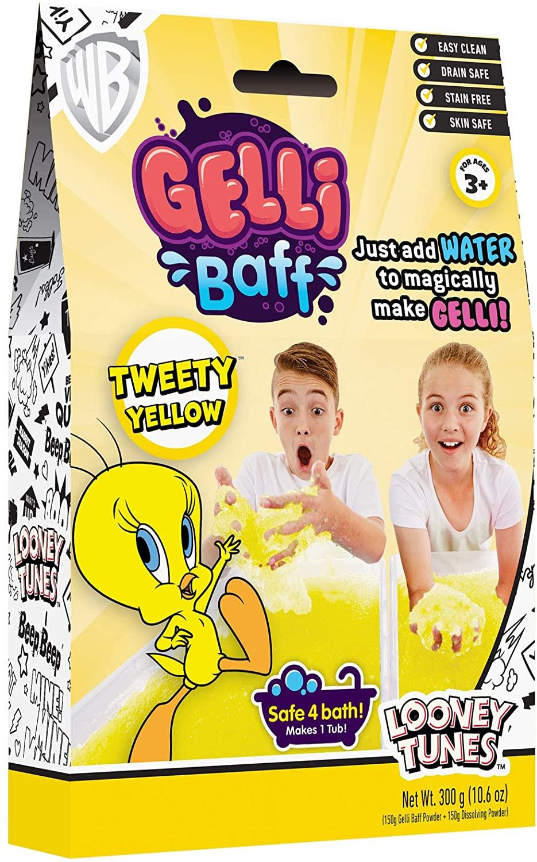 NJ Croce Tweety Bird Yellow Gelli Baff 1-Use Kids Bath Toy