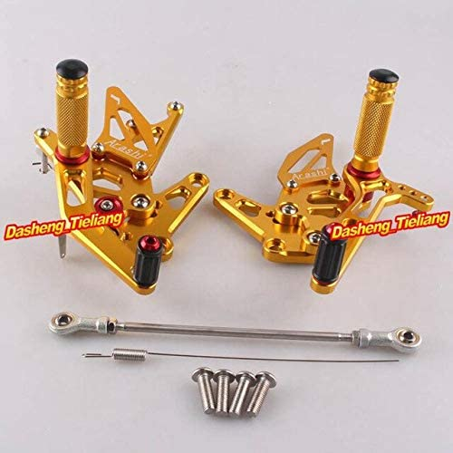 Frames & Fittings Motorcycle Adjustable Rear Set Footrests Foot Pegs Assembly for Suzuki Hayabusa GSX1300R 1999-2007 Pair Spare Parts - (Color: Gold)
