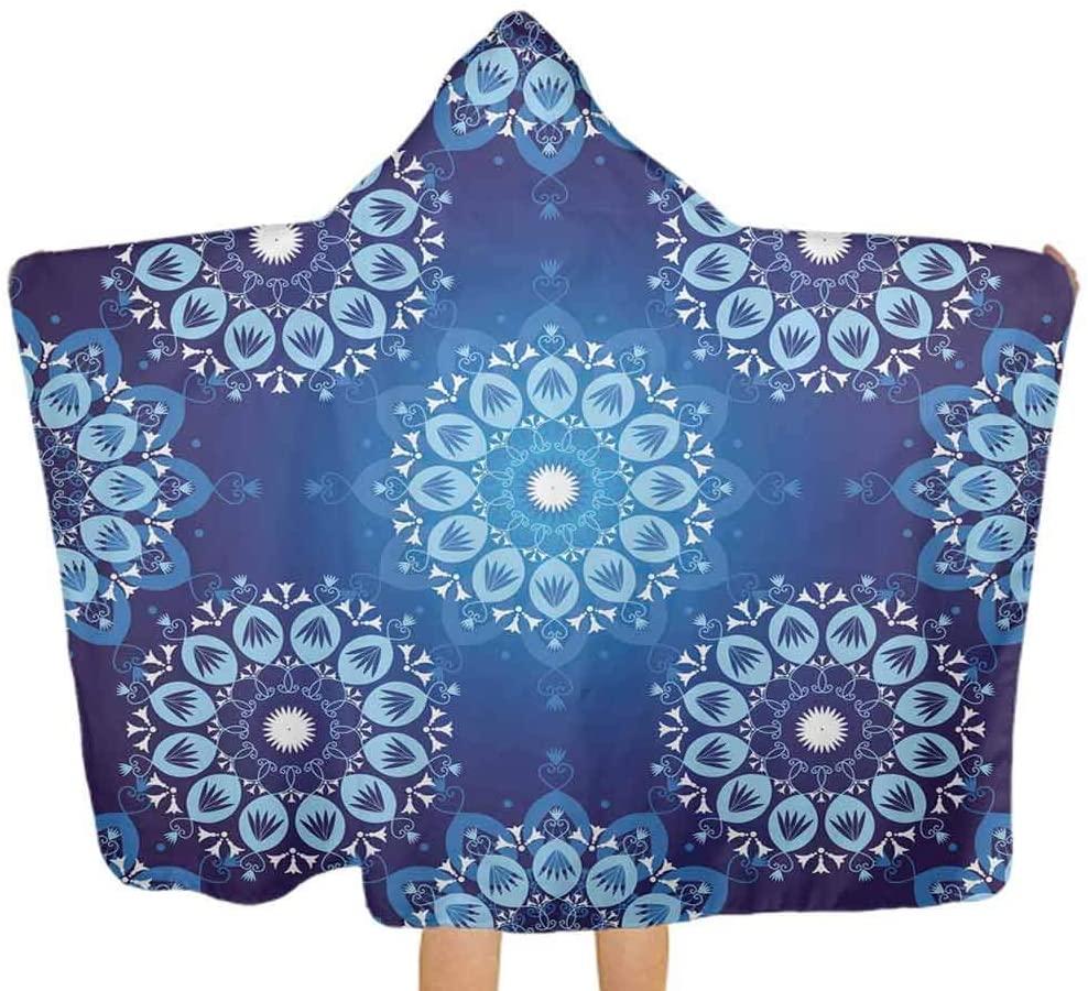 ThinkingPower Hooded Baby Towel Vintage Plaid Design Premium Cotton Absorbent Bathrobe Great, 51.5x31.8 Inch