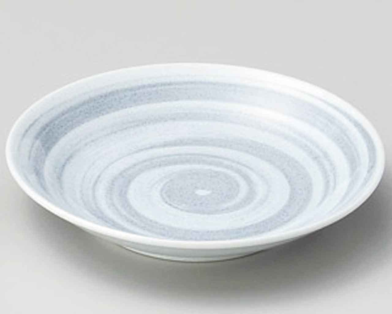 Grey Brush 4.8inch Set of 2 Small Plates Grey porcelain Made in Japan