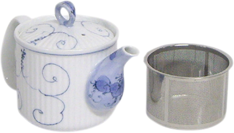 Arabesque grapes super stainless steel tea strainer pot 60190 (japan import)