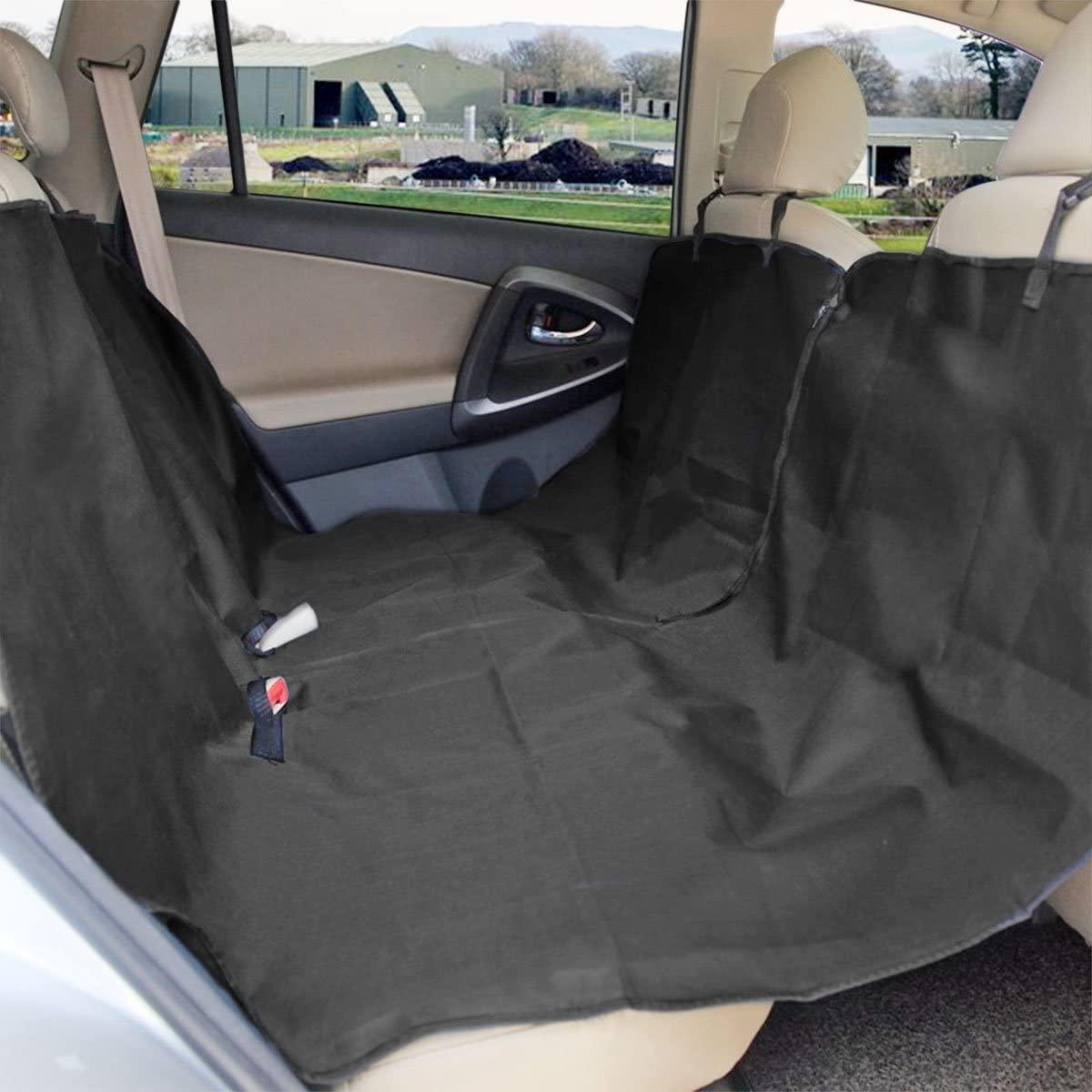 Zone Tech Car Pet Hammock - Black Premium Quality Heavy Duty Dog Pet Vehicle Seat Protector