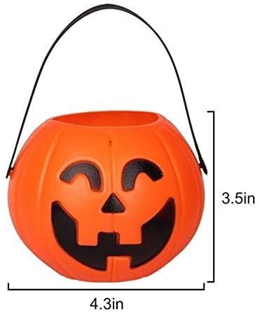 Halloween Pumpkin Halloween Candy Pot ,Halloween Pumpkin Lantern Novelty ,Halloween Candy Bucket Ornament, for Kids Party Trick Or Treat Bags Light up Pumpkin (Color : B)