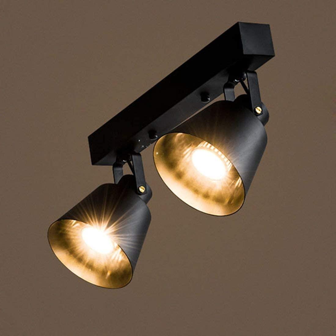 BOSSLV Limelight Ceiling Light Chandelier Pendent Lamp Matte Black Finish 2 Lights