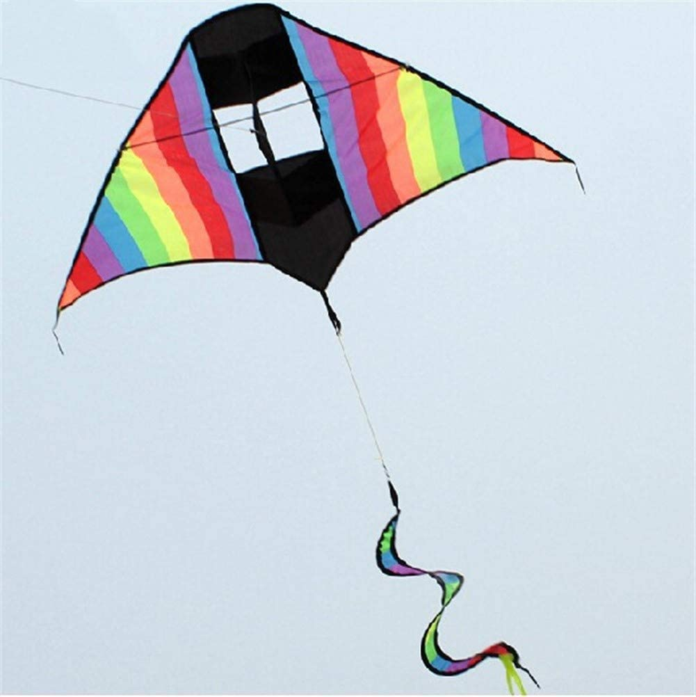 LILIANG Kite, Kids Kite Beautiful Kites for Kids Easy to Fly for Beach Outdoor 3D Triangle Kite Breeze (Color : Colorful)