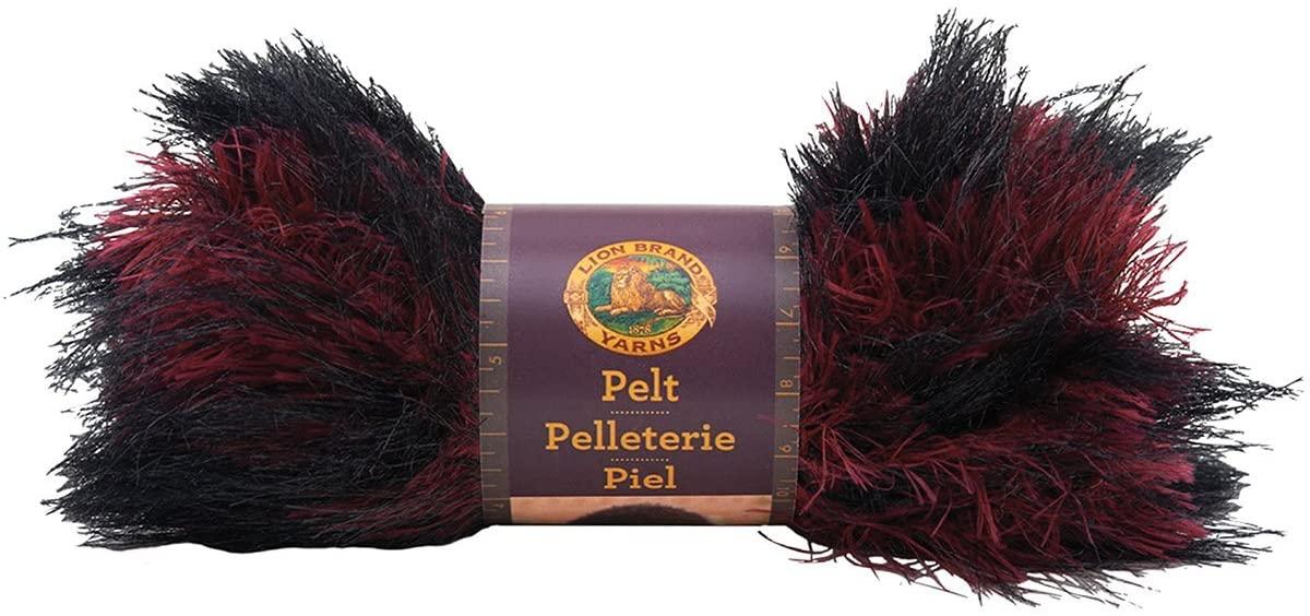 Lion Brand Yarn 321-200 Pelt Yarn, Red Fox