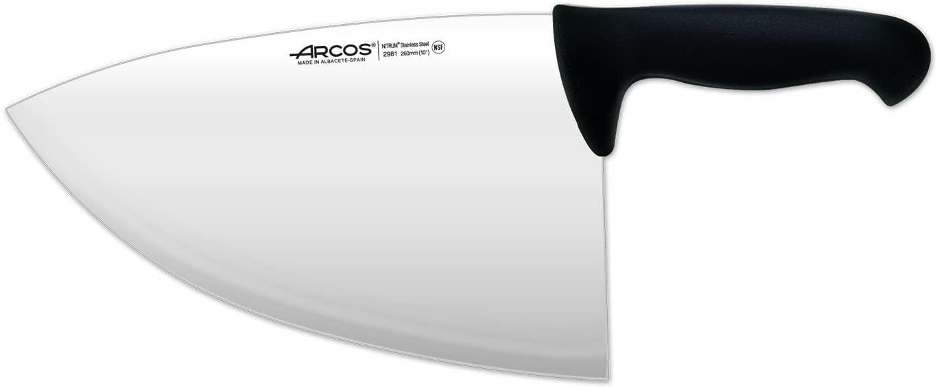 Arcos 10-Inch 260 mm 680 gm 2900 Range Cleaver, Black