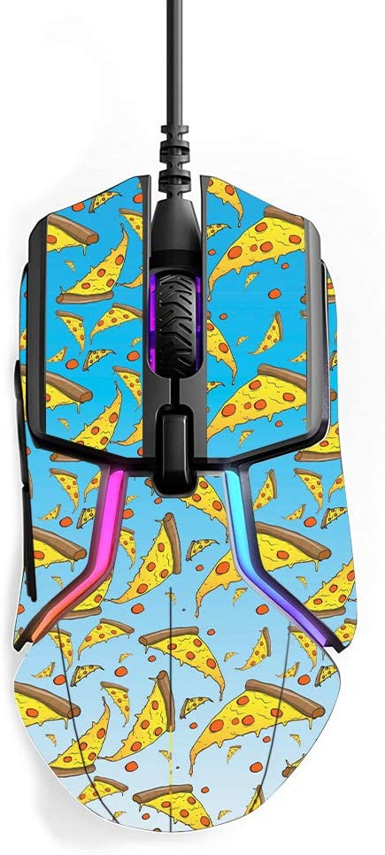 MightySkins Skin Compatible with SteelSeries Rival 600 Gaming Mouse - Raining Pizza   Protective, Durable, and Unique Vinyl wrap Cover   Easy to Apply, Remove, and Change Styles   Made in The USA