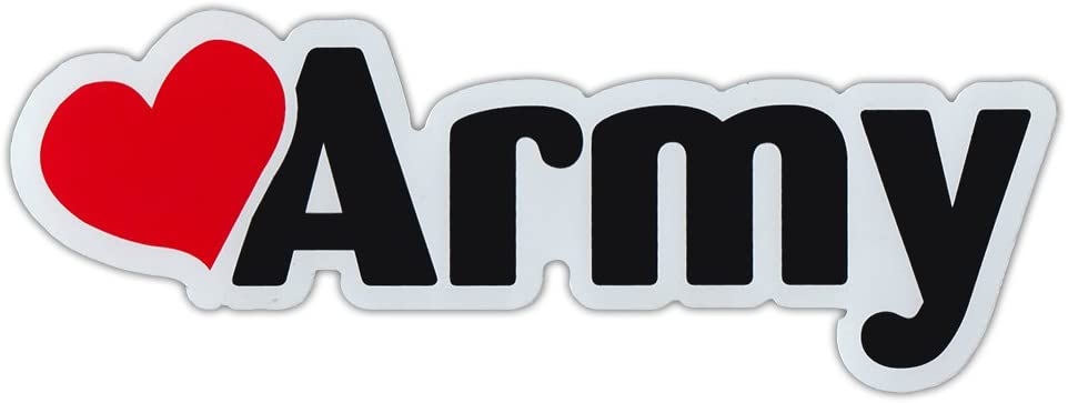 Crazy Sticker Guy Car/Refrigerator Word Magnet - Love Army (Heart) - Support Our Military!