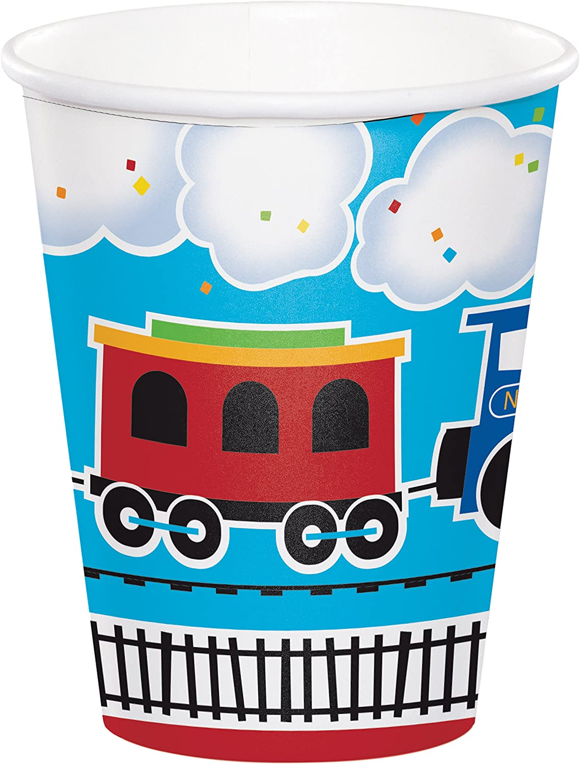 All Aboard Train Cups, 24 ct