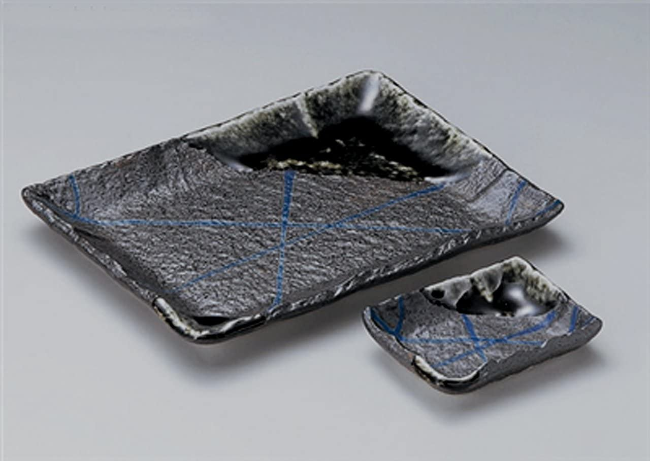 NANBAN-RAN-TOGUSA Jiki Japanese traditional Porcelain Medium Plate & Small Plate Set