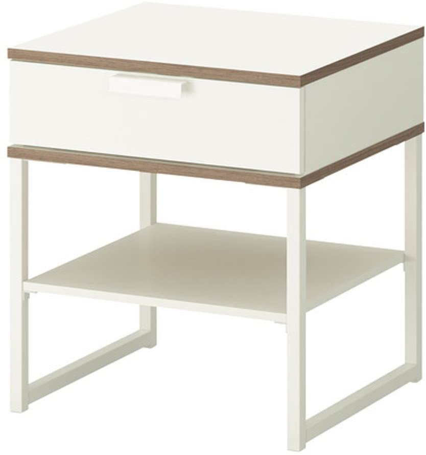 HOMRanger European-Style Assembled Bedside Table [lockers] Cabinets Drawer Tall nightstand-B 42x11x47cm(17x4x19)