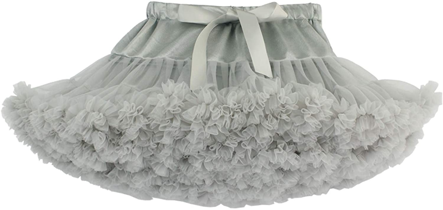 Alizeal Layered Fluffy Tulle Rainbow Tutu Bubble Skirts for Dancing/Dressing Up (9M-8T)