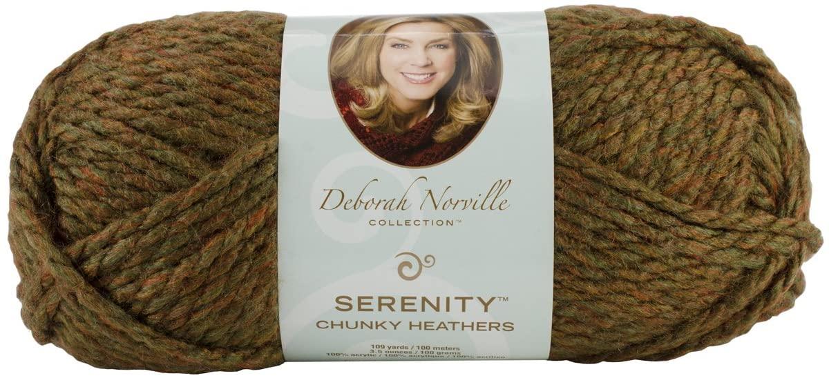 Deborah Norville Collection Serenity Chunky Heathers Yarn Woodsman Pack of 3.