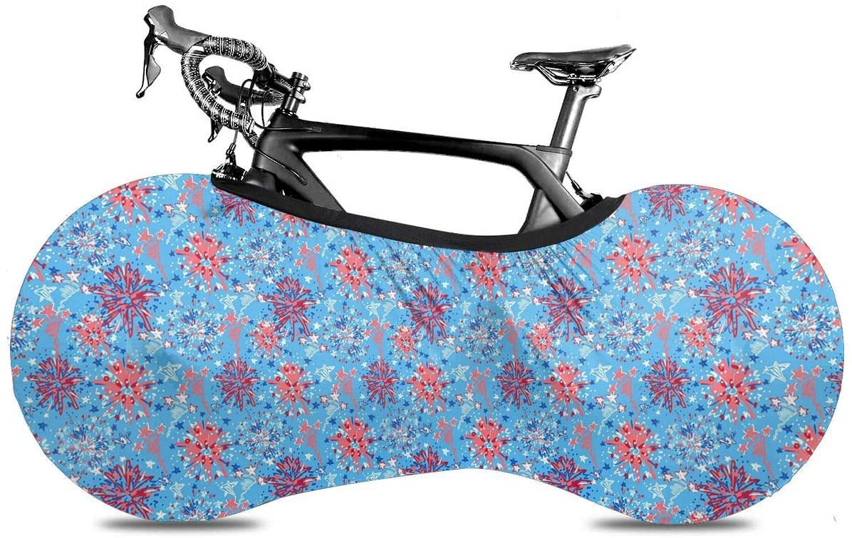 KLQ Independence Day Light Blue Bike Dust Cover Bicycle Wheel Protective Case