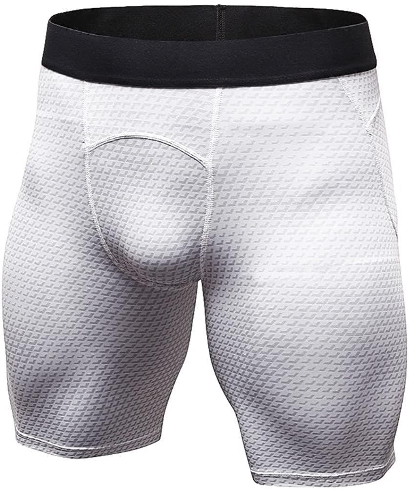 EFINNY Men's Compression Base Layer Cool Dry Shorts Workout Running Training Pants