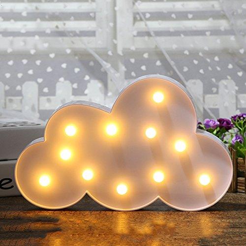LED Unicorn Night Lights Mood Nights for Children Kids Baby Sweet Nursery Room Decoration Lamps (White Cloud)