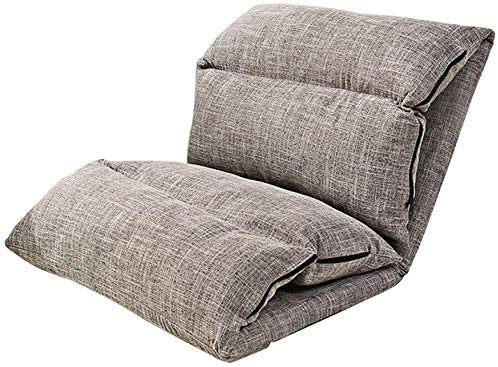 HOMRanger Lazy Lounge Little Sofa Bed Foldable Adjustable Floor Chair Sleeper Reclining Single Backrest Detachable Wash (Dark Gray)