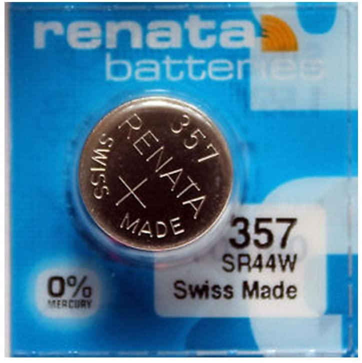 Renata Battery 357 Sr44W Silver 1.55V Swiss Made