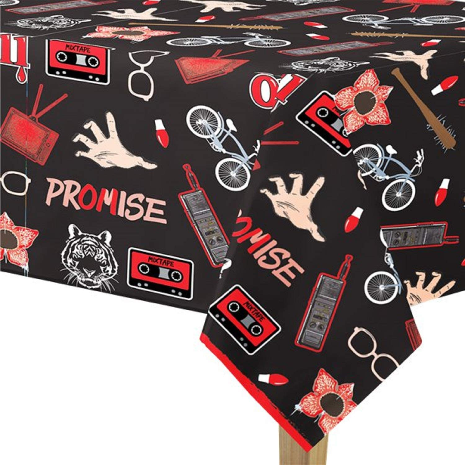 Official Stranger Things Tablecover Tablecloth TV Show Party Tableware Decorations Accessories Teen Birthday 1980s 80s